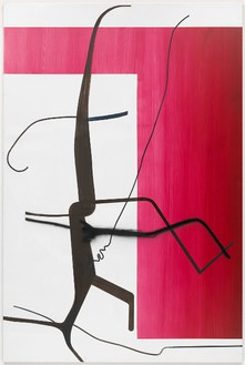 Albert Oehlen, Untitled (Baum 30), 2015 Oil on Dibond, 118 ⅛ × 78 ¾ inches (300 × 200 cm)© Albert Oehlen, photo by Stuart Burford