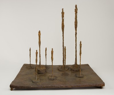 Alberto Giacometti, La Clairière, 1950 Bronze, 23 ⅛ × 25 ¾ × 20 ¾ inches (58.7 × 65.3 × 52.5 cm), edition Fondation A.A. Giacometti, Fondation Giacometti, Paris© 2018 Alberto Giacometti Estate/Licensed by VAGA and ARS, New York