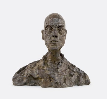 Alberto Giacometti, [Head of a Man (Lotar I)], c. 1964–65 (cast 1968) Bronze, 10 ¼ × 11 ⅛ × 4 ⅛ inches (26 × 28.1 × 10.4 cm), EA I/II© 2018 Alberto Giacometti Estate/Licensed by VAGA and ARS, New York