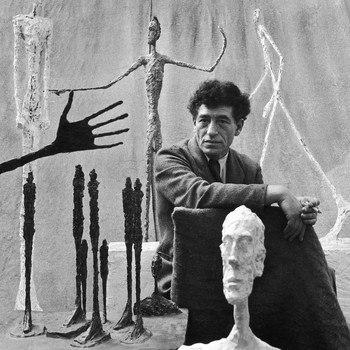 A portrait photograph of Alberto Giacometti
