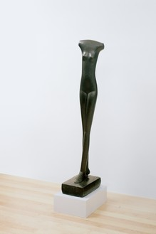Alberto Giacometti, Femme qui marche II, 1932–36 (cast 1960) Bronze, height: 59 inches (149.9 cm), edition no. 3, Baltimore Museum of Art, Maryland© 2018 Alberto Giacometti Estate/Licensed by VAGA and ARS, New York