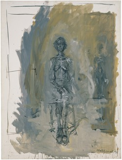 Alberto Giacometti, Annette assise, 1958 Oil on canvas, 45 ½ × 35 inches (115.6 × 88.9 cm), Detroit Institute of Arts© 2018 Alberto Giacometti Estate/Licensed by VAGA and ARS, New York