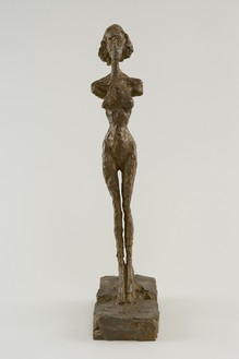 Alberto Giacometti, Annette debout, c. 1954 (cast 1982) Bronze, height: 18 ¾ inches (47.5 cm), AP I/IV, Foundation Alberto et Annette Giacometti, Paris© 2018 Alberto Giacometti Estate/Licensed by VAGA and ARS, New York