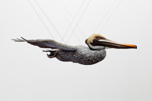 Alex Israel, Pelican, 2017 Acrylic on fiberglass, stainless steel, aluminum, and plastic, 15 × 80 × 46 ⅞ inches (37.9 × 203 × 119.1 cm), edition of 3 + 1 AP© Alex Israel