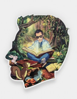 Alex Israel, Self Portrait (Enchanted Forest), 2020 Acrylic and Bondo on fiberglass, 96 × 84 × 4 inches (243.8 × 213.4 × 10.2 cm)© Alex Israel