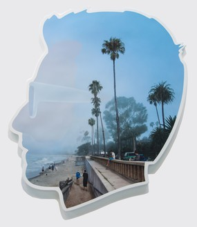 Alex Israel, Self-Portrait (Marine Layer), 2015 Acrylic and Bondo on fiberglass, 96 × 84 × 4 inches (243.8 × 213.4 × 10.2 cm)© Alex Israel