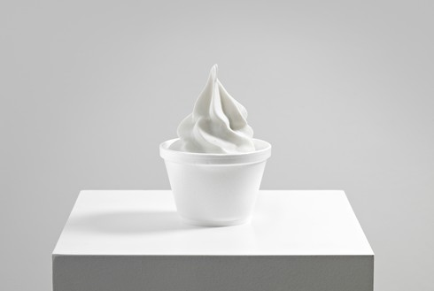 Alex Israel, The Bigg Chill, 2012–13 Marble and Styrofoam cup, 5 × 3 ½ × 3 ½ inches (12.7 × 8.9 × 8.9 cm), edition of 20© Alex Israel