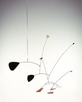 Alexander Calder, Ritou I, 1946 Hanging mobile: painted sheet metal, wire and rod, Height: 32 inches (81.3 cm); Span: 31 inches (78.7 cm)© 2013 Calder Foundation, New York/Artists Right Society (ARS), New York