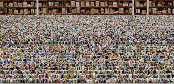 Andreas Gursky, Amazon, 2016 Inkjet print, 81 ½ × 160 ¼ × 2 7/16 inches, framed (207 × 407 × 6.2 cm)© Andreas Gursky/Artist Rights Society (ARS), New York/VG Bild-Kunst, Bonn