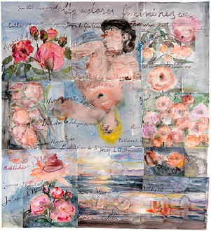 Anselm Kiefer, Les extases féminines (The Feminine Ecstasies), 2013 Watercolor on paper, 65 ¾ × 60 ⅝ inches (167 × 154 cm)© Anselm Kiefer, photo by Georges Poncet
