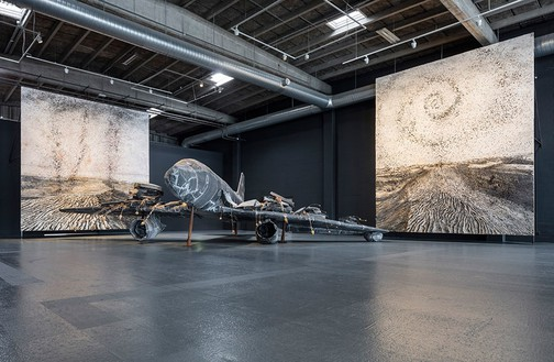 Installation view, Anselm Kiefer: For Louis-Ferdinand Céline: Voyage au bout de la nuit, Copenhagen Contemporary, Copenhagen, 2017 Artwork © Anselm Kiefer