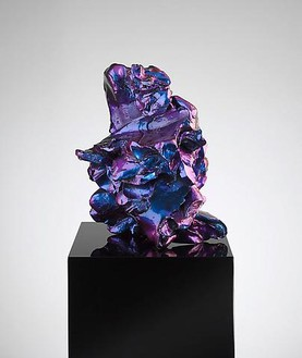 ANSELM REYLE Untitled, 2008 Bronze, effect lacquer, plinth with piano lacquer 61 7/8 × 11 7/8 × 11 7/8 inches overall (157 × 30 × 30 cm) 8 versions (8 unique colors)