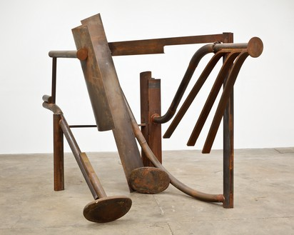 Anthony Caro, Torrents, 2012 Steel, rusted, 96 ⅛ × 126 × 70 ⅛ inches (244 × 320 × 178 cm)© Barford Sculptures Ltd.