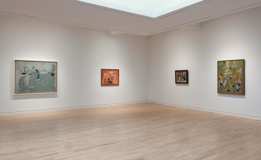 Installation view, Arshile Gorky: 1947, Gagosian, Madison Avenue, New York, 2011 Photo: Rob McKeever
