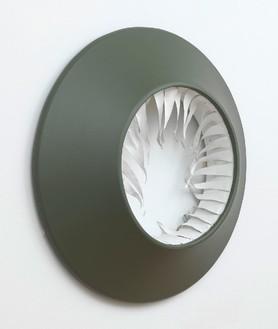 Blair Thurman, Undertow, 2013 Acrylic on canvas on wood, 35 × 35 × 6 inches (88.9 × 88.9 × 15.2 cm)© Blair Thurman