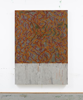 Brice Marden, Santorini 2, 2010–18 Oil on linen, 75 ⅛ × 53 ½ inches (190.8 × 135.9 cm)© 2018 Brice Marden/Artists Rights Society (ARS), New York