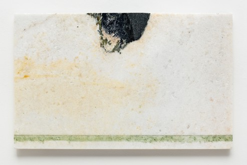 Brice Marden, Helen's Immediately, 2011 Oil on marble, 19 ½ × 31 ½ inches (49.5 × 80 cm)© 2018 Brice Marden/Artists Rights Society (ARS), New York