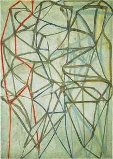 Brice Marden, 2 (Dialog), 1987–88 Oil on linen, 84 × 60 inches (213.4 × 152.4 cm)© 2018 Brice Marden/Artists Rights Society (ARS), New York