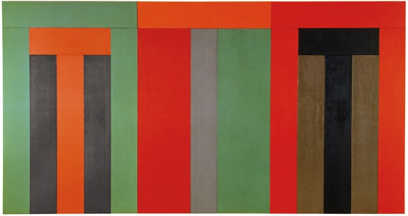 Brice Marden, Thira, 1979–80 Oil and wax on canvas, 18 panels assembled in 3 parts, overall: 96 × 180 inches (243.8 × 457.2 cm), Centre Pompidou, Paris© 2018 Brice Marden/Artists Rights Society (ARS), New York