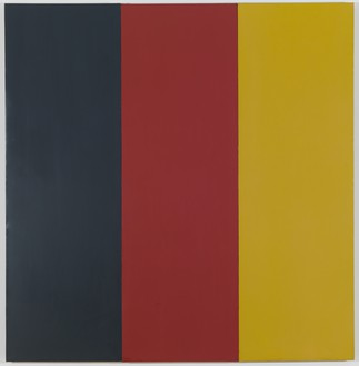 Brice Marden, Red Yellow Blue III, 1974 Oil and wax on canvas, in 3 parts, overall: 74 × 72 inches (188 × 182.9 cm)© 2018 Brice Marden/Artists Rights Society (ARS), New York
