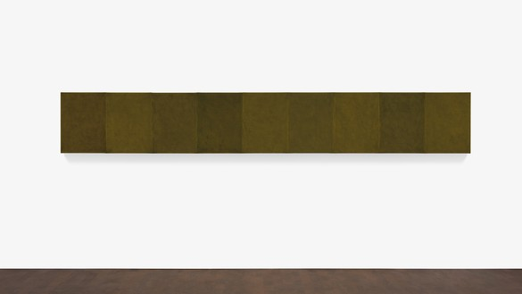 Brice Marden, Eastern Moss, 2012–15 Oil on linen, in 9 parts, overall: 24 × 162 inches (61 × 411.5 cm)© 2018 Brice Marden/Artists Rights Society (ARS), New York