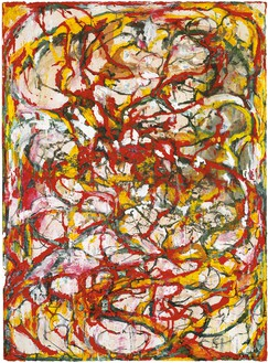 Brice Marden, Dragons, 2000–04 Ink on paper, 40 ½ × 29 ¾ inches (102.9 × 75.6 cm)© 2018 Brice Marden/Artists Rights Society (ARS), New York