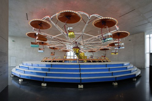 CARSTEN HÖLLER R B Ride, 2007 Carousel Dimensons variable Installation at Kunsthaus Bregenz, Austria, photo by Markus Tretter / Courtesy the artist/VBK, Vienna