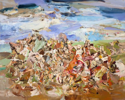 Cecily Brown, Foxglove, 2001 Oil on linen, 48 × 60 inches (121.9 × 152.4 cm)© Cecily Brown