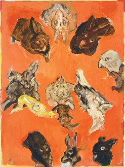 Cecily Brown, Untitled, 1996 Oil on board, 24 × 18 inches (61 × 45.7 cm)© Cecily Brown
