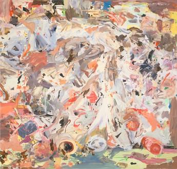 Cecily Brown, Memento Mori 2, 2006–08 Oil on linen, 85 × 89 inches (215.9 × 226.1 cm)© Cecily Brown