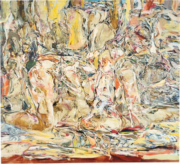 Cecily Brown, Tender Is the Night, 1999 Oil on linen, 100 × 110 inches (254 × 279.4 cm), The Broad, Los Angeles© Cecily Brown