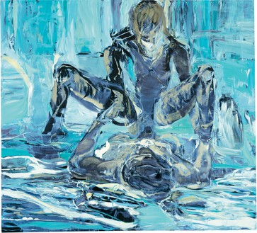 Cecily Brown, Performance, 1999 Oil on linen, 100 × 110 inches (254 × 279.4 cm)© Cecily Brown