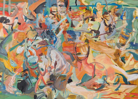 Cecily Brown, The Wallflower, 2014 Oil on linen, 31 × 43 inches (78.7 × 109.2 cm)© Cecily Brown