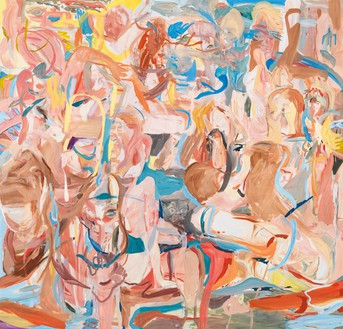 Cecily Brown, Combing the Hair (Côte d'Azur), 2013 Oil on linen, 109 × 113 inches (276.9 × 287 cm)© Cecily Brown. Photo: Rob McKeever
