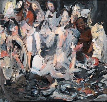 Cecily Brown, Untitled, 2012 Oil on linen, 89 × 85 inches (226.1 × 215.9 cm)© Cecily Brown