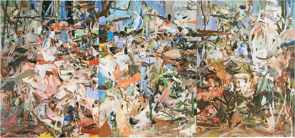 Cecily Brown, Girl Eating Birds, 2004 Oil on linen, 77 × 165 inches (195.6 × 419.1 cm)© Cecily Brown