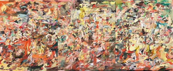 Cecily Brown, The Sick Leaves, 2011 Oil on linen, in 3 parts, each: 103 × 83 inches (261.6 × 210.8 cm)© Cecily Brown