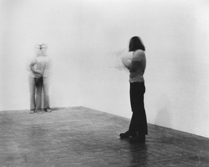 Chris Burden, Shoot, 1971 Performance at F Space, Santa Ana, California, November 19, 1971© 2018 Chris Burden/Licensed by the Chris Burden Estate and Artists Rights Society (ARS), New York