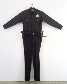 Chris Burden, L.A.P.D. Uniform, 1993 Fabric, leather, wood, metal, and plastic, 88 × 72 × 6 inches (223.5 × 182.9 × 15.2 cm), edition of 30© 2018 Chris Burden/Licensed by the Chris Burden Estate and Artists Rights Society (ARS), New York