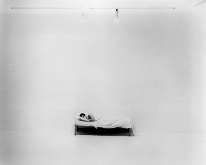Chris Burden, Bed Piece, 1972 Performance at 72 Market Street, Venice, California, February 18–March 10, 1972© 2018 Chris Burden/Licensed by the Chris Burden Estate and Artists Rights Society (ARS), New York