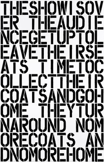 Christopher Wool, Untitled, 1990 Enamel paint on aluminum, 108 × 72 inches (274.3 × 182.9 cm)