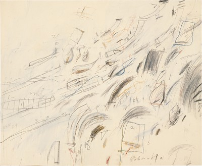 Cy Twombly, Untitled (Bolsena), 1969 Oil, crayon, and pencil on canvas© Cy Twombly Foundation