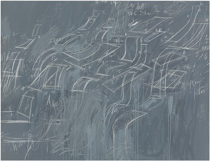 Cy Twombly, Untitled, 1969 Oil and crayon on canvas, 79 × 103 ⅜ inches (200.7 × 262.6 cm), Whitney Museum of American Art, New York© Cy Twombly Foundation