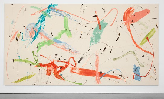 Dan Colen, Murda Murda, 2010 Gum on unprimed canvas, 110 × 207 inches (279.4 × 525.8 cm)© Dan Colen