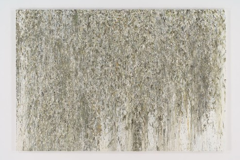 Dan Colen, Untitled, 2008 Oil on canvas, 96 × 128 inches (243.8 × 325.1 cm)© Dan Colen