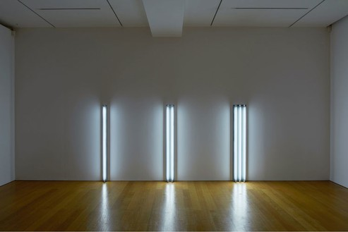 Dan Flavin, the nominal three (to William of Ockham), 1963 Daylight fluorescent light, Dimensions variable, edition of 3© 2016 Stephen Flavin/Artists Rights Society (ARS), New York