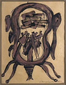 David Smith, Untitled, 1950 Gouache, ink and graphite on paper, 10 ¾ × 8 ¼ inches (27.3 × 21 cm)