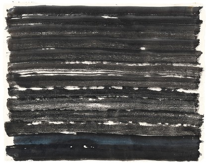 David Smith, ΔΣ 2/10/55, 1955 Egg ink on paper, 17 × 21 ⅜ inches (43.2 × 54.3 cm)© The Estate of David Smith/Licensed by VAGA, New York, photo by Rob McKeever