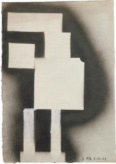 David Smith, Untitled, 1963 Spray enamel and gouache on paper, 16 ½ × 11 ½ inches (41.9 × 29.2 cm)© The Estate of David Smith