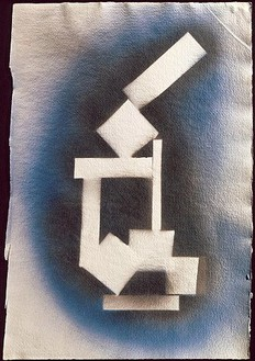 David Smith, Untitled, 1963 Spray enamel on paper, 20 × 13 ¾ inches (50.8 × 34.9 cm)